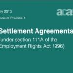 Acas code of practice settlement agreements